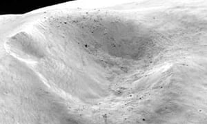 Rosetta mission: Lutetia surface detail