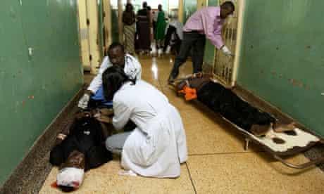 Medics at the Mulago hospital in Kampala