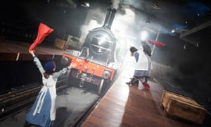 The Railway Children at the Waterloo station old Eurostar terminal
