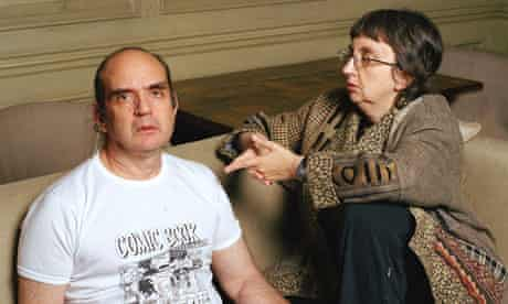 Harvey Pekar of comic book American Splendor and Joyce Brabner