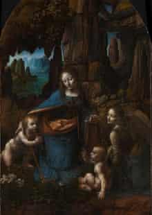 Da Vinci's Virgin on the Rocks restored