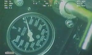 Press gauge used to test BP oil cap