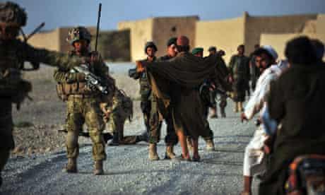 Soldiers near Nahr-e Saraj in Helmand province
