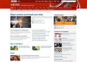 The New BBC News website design