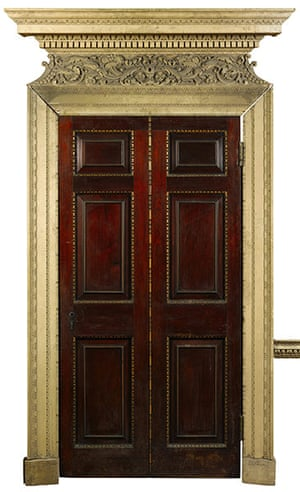 Chatsworth House auction: A door from the Dining Room of Devonshire House