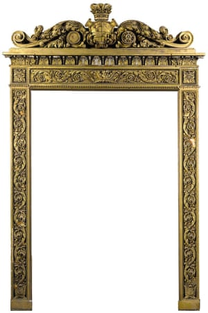 Chatsworth House auction: A regency carved giltwood and gesso overmantel frame