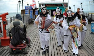 The Pier Echoes, a pierrot troupe performing in Paignton