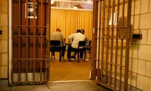 Restorative justice session at High Down prison, Sutton, Surrey