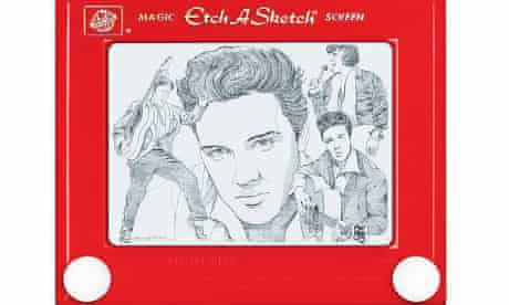 George Vlosich's Etch A Sketch of Elvis.