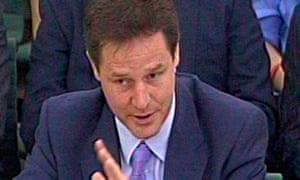 Nick Clegg Political and Constitutional Reform Committee