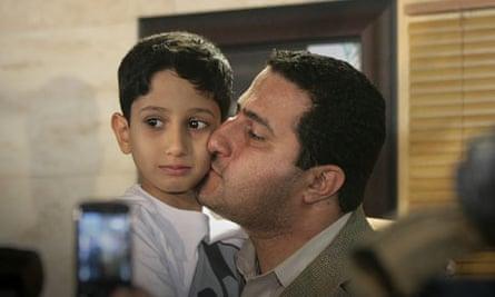Shaharm Amiri, 32, on his arrival in Tehran