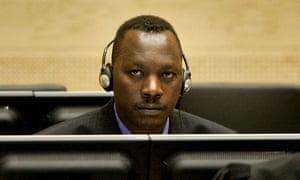 Thomas Lubanga listens to proceedings at the international criminal court in 2006