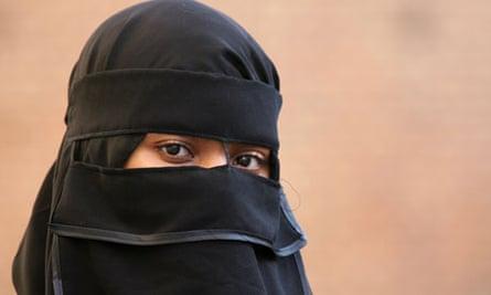 Woman in Muslim attire