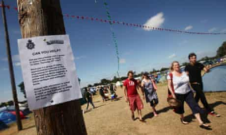 A police appeal for information about a rape at Latitude