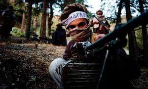 A fighter with the Haqqani network