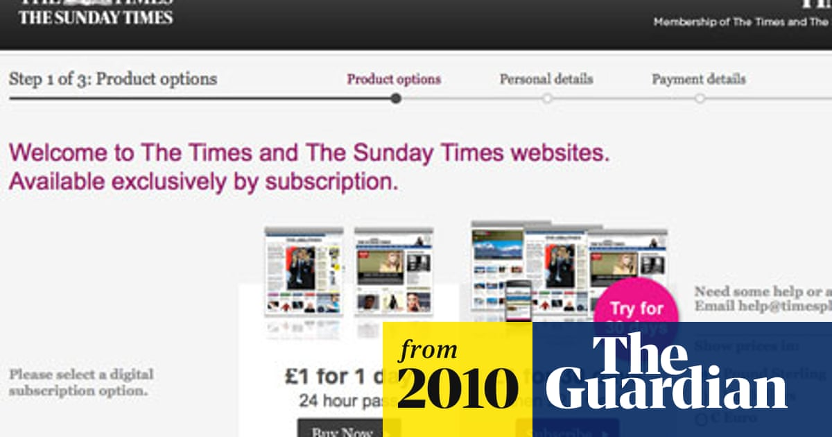 Times loses almost 90% of online readership | Media | The Guardian
