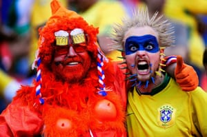 Netherlands v Brazil: Netherlands and Brazil Fans ahead of their World Cup quarter-final