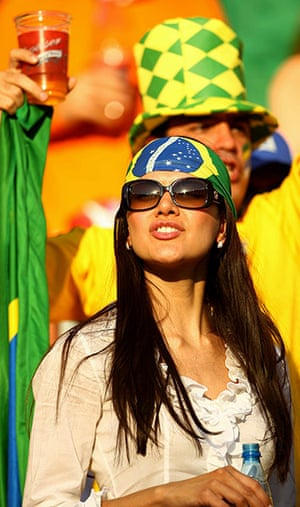 Netherlands v Brazil: Female Brazil fan