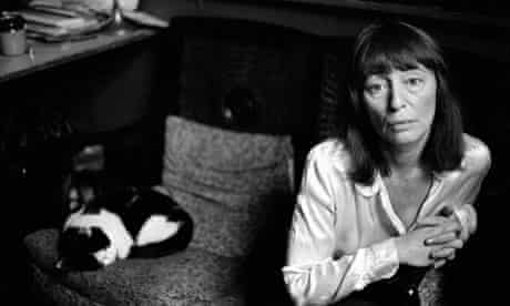 Beryl Bainbridge at home in Camden Town, October 1981.