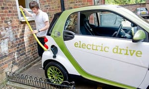 Adam Gabbatt charging Smart Fortwo Ed