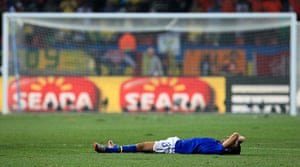Netherlands versus Brazil: Dejected Dani Alves