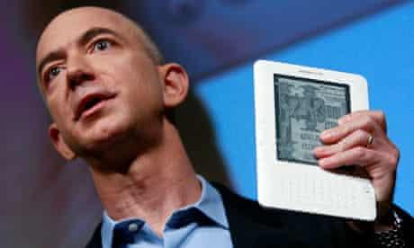 Jeff Bezos with a Kindle