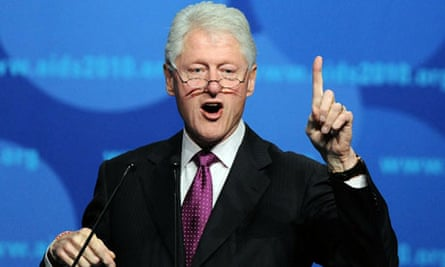 Bill Clinton speaks at the Vienna Aids conference where he directly defended Obama's Aids policy
