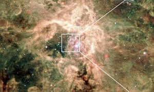 Montage of the Tarantual nebula
