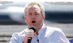 Andrew Breitbart speaks at the Tea Party Express' Showdown in Searchlight, Nevada.