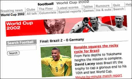 The Guardian's 2020 World Cup online coverage
