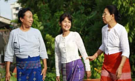 Burmese democracy campaigners Cho Cho Kyaw Nyein, Nay Ye Ba Swe and Mya Than Than Nu
