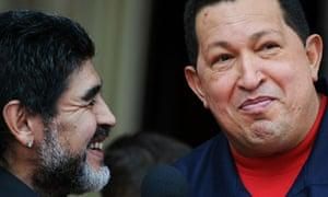Hugo Chavez and Diego Maradona