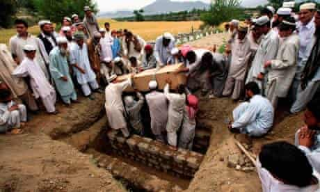 Pakistanis bury victim of alleged US missile attack in tribal area near Afghanistan border