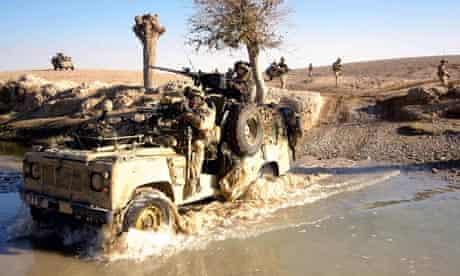 British troops on patrol in Kandahar, Afghanistan