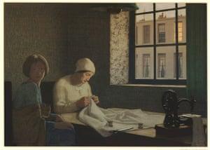 Frederick Cayley Robinson: The Old Nurse, 1926, by Frederick Cayley Robinson