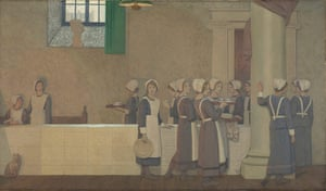 Frederick Cayley Robinson: Acts of Mercy: Orphans I, 1915 by Frederick Cayley Robinson