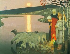 Frederick Cayley Robinson: Pastoral, 1923–24 by Frederick Cayley Robinson