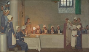 Frederick Cayley Robinson: Acts of Mercy: Orphans II, about 1915 by Frederick Cayley Robinson