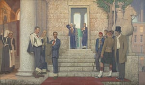 Frederick Cayley Robinson: Acts of Mercy: The Doctor I, 1920 by Frederick Cayley Robinson