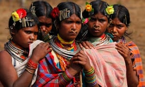 Dongria Kondh tribe members protest against Vedanta