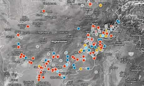 Key incidents in Afghanistan