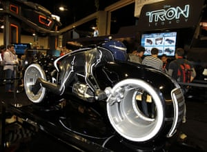 Comic Con: A replica motorcycle from Disney's movie 'Tron: Legacy' at Comic Con