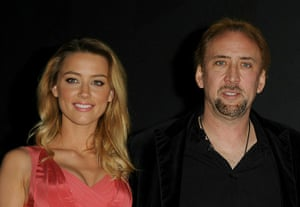 Comic Con: Actress Amber Heard and actor Nicolas Cage at the 'Drive Angry 3D' panel