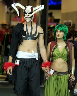 Comic-Con: Attendees arrive in costume for the third day of the pop culture convention