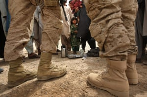 Afghanistan: 23 March 2009: A US counter-intelligence Marine and his translator