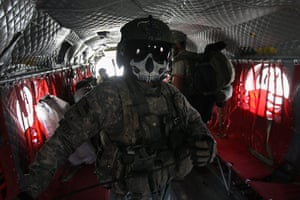 Afghanistan: 30 October 2008: A US Army helicopter gunner