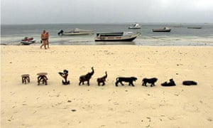 The beach near Malindi, where admiral Zheng He was shipwrecked