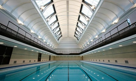 The refurbished swimming pool at Kentish Town sports centre
