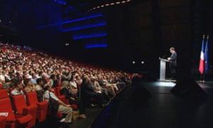 President Sarkozy at ICHEP