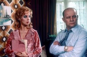 TV actors: Georgina Hale as Renee and Brian Glover as Yorkie in Minder